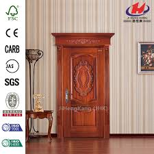 Solid Interior Door China Jhk 017 Merpauh Kerala Carved Rubber Wood Solid Interior