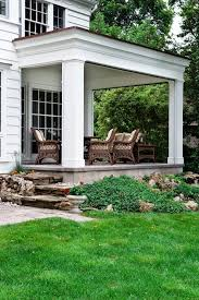 back porch entrance steps porch traditional with wicker furniture