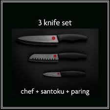 kikusumi black ceramic collection 3 piece chef knife set black home knives black ceramic knife collection