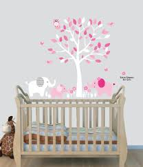 amazon com elephant nursery tree decal pink wall stickers amazon com elephant nursery tree decal pink wall stickers animal decals baby pink baby