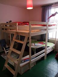 Double Loft Bed Ikea Hack From Two Mydal Bunk Beds Kids Room - Ikea mydal bunk bed