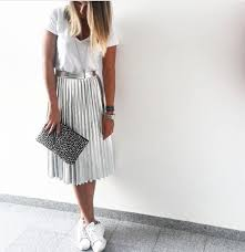 pleated skirts best 25 metallic skirt ideas on metallic pleated