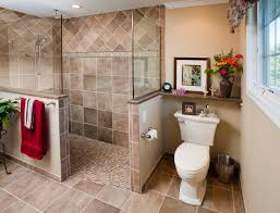 earth tone bathroom designs magnificent bathroom doorless shower designs contemporary with
