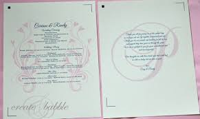 how to create a wedding program diy wedding programs create and babble