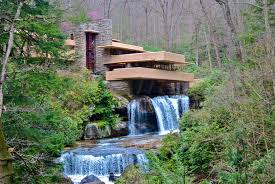 waterfall home decor house built over waterfall frank lloyd wright i call it lovely