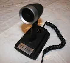 turner johnson viking cb ham radio vintage desk base microphone