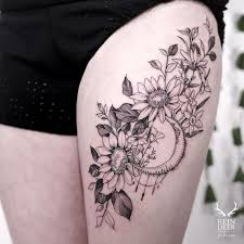 best 25 sunflower tattoo thigh ideas on pinterest floral hip