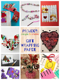 recycled christmas wrapping paper stick puzzles reusing gift wrap teach me