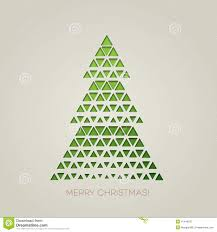 merry tree with triangle shape stock vector image