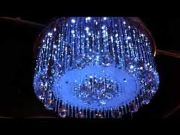 Led Chandelier Led Crystal Chandelier With Mp3 And Speakers Youtube