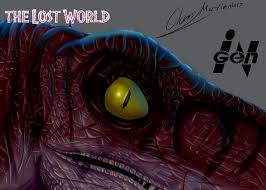 the lost world jurassic park male velociraptor digital painting the lost world jurassic park