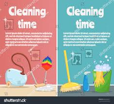 cartoon pictures of cleaning vertical banners cleaning tools laundry cartoon stock vector