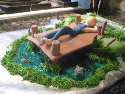 lazy fishing birthday cake cakecentral com