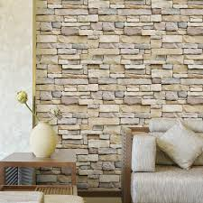 3d vinyl 10mx45cm brick stone wallpaper sticker decal film mural