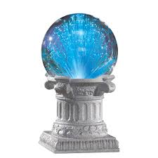 Gazing Ball Pedestals Solar Fiber Optic Gazing Ball Outdoor Garden Decoration Blue