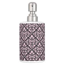 Damask Bathroom Accessories Black Damask Bath Accessory Sets Zazzle