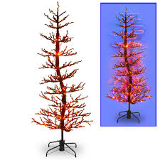 Led Lights Halloween National Tree Company 7 Ft Halloween Wobble Tree With Orange Led