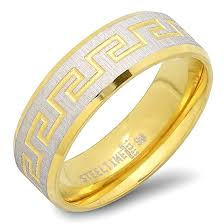 men gold ring design steeltime men s stainless steel rings