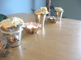 good looking centerpiece which is installed on wooden dining table