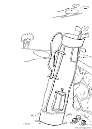 golf bag sports s5865 coloring pages printable