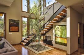 modern homes interiors modern prefabricated modern home with stacked stones pillars and
