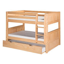 Bunk Beds With Trundle Camaflexi C2021 Tr Twin Low Bunk Bed With Trundle And Panel