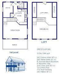 cabin blue prints cabin w loft plans package blueprints material list