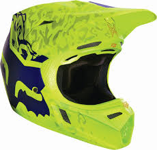 fox helmet motocross fox racing new 2016 mx v3 cauz yellow purple mips motocross dirt
