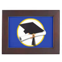 graduation memory box graduation cap gift boxes keepsake boxes zazzle