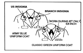 u s and branch insignia placement armystudyguide com