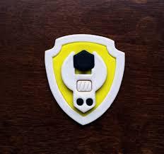 rubble patrol cookie cutter set paw patrol badge fondant cutters