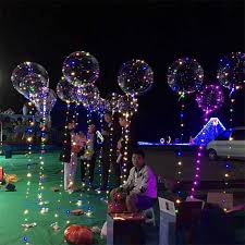 2017 light up toys led string lights flasher lighting balloon wave