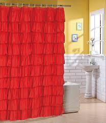 Ombre Ruffle Shower Curtain White Ruffle Shower Curtain