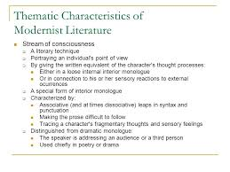 Meaning Of Interior Monologue Modernism U0026 Modernist Literature Ppt Online Download