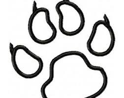 coloring page tiger paw panther paw print coloring page pana panther pinterest