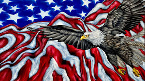 Americain Flag American Symbols Bald Eagle American Flag Mountains Desktop Hd