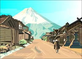 japanese town japanese village by guynextdor on deviantart a japanese village by