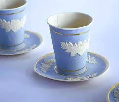 disposable cups disposable paper cup designed to look like classic wedgewood by
