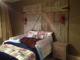 Shabby Chic Bed Frames Sale by Diy Barn Door Headboard Log Side Bed Table White Table Lamp Brown