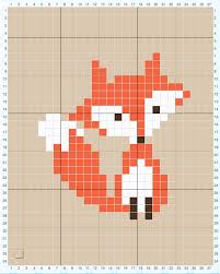 how to cross stitch on crochet s fox pillow sewrella