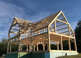 Timber Dormer Construction Maine Mountain Timber Frames