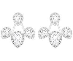 earring pierced laina drop pierced earring jackets white rhodium plating