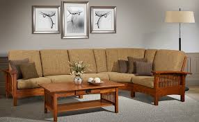 style sofa mission style upholstered furniture in oak maple or cherry