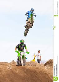 dirt bike motocross racing dirt bike jump editorial photography image 30026607