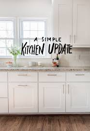 ideas to update kitchen cabinets simple white kitchen a simple kitchen update white weup co
