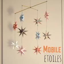 mobile chambre enfant mobile d étoiles en origami chambre d enfant de bébé par l