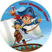captain jake u0026 neverland pirates edible cake image topper
