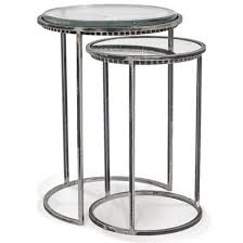 small nest of tables traditional round carolina nesting tables set of 2 small