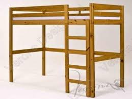 pine high sleeper loft bunk bed frame kids beds pine