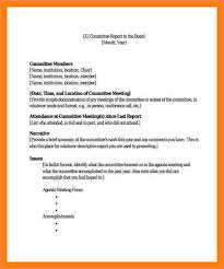 committee report template committee report template resume template